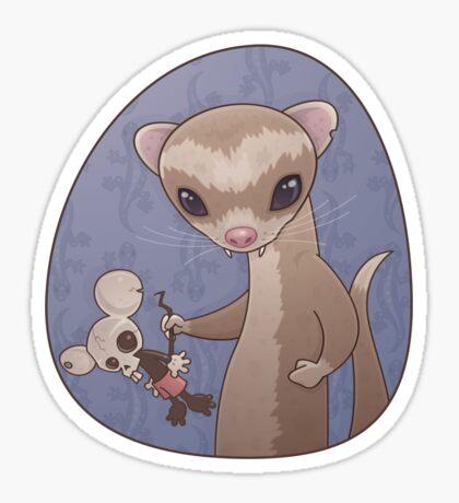 Fizzy The Ferret Sticker