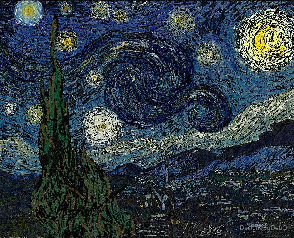 The Starry Night Grunge by DesignsByDebQ