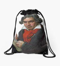 Ludwig van Beethoven Grunge Drawstring Bag