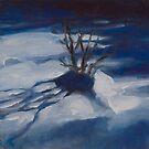 Bush in the snow by AheadForDinci