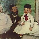 Edgar Degas French Impressionism Oil Painting Father with Daughters by jnniepce