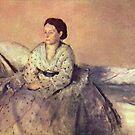 Edgar Degas French Impressionism Oil Painting Portrait of Madame René de Gas by jnniepce