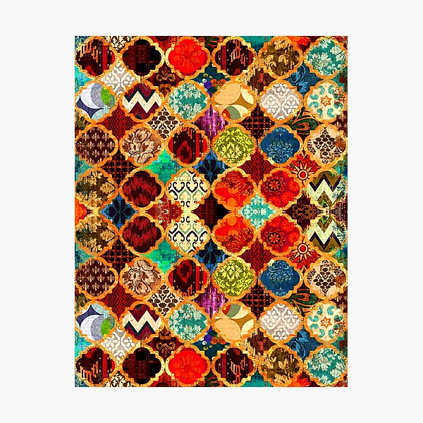 Epic Colored Traditional Moroccan Artwork. Photographic Print
