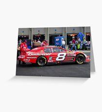 Dale Earnhardt Jr. NASCAR Budweiser Greeting Card