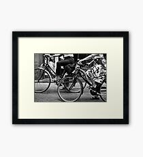 Window Shopping In Italy Framed Print