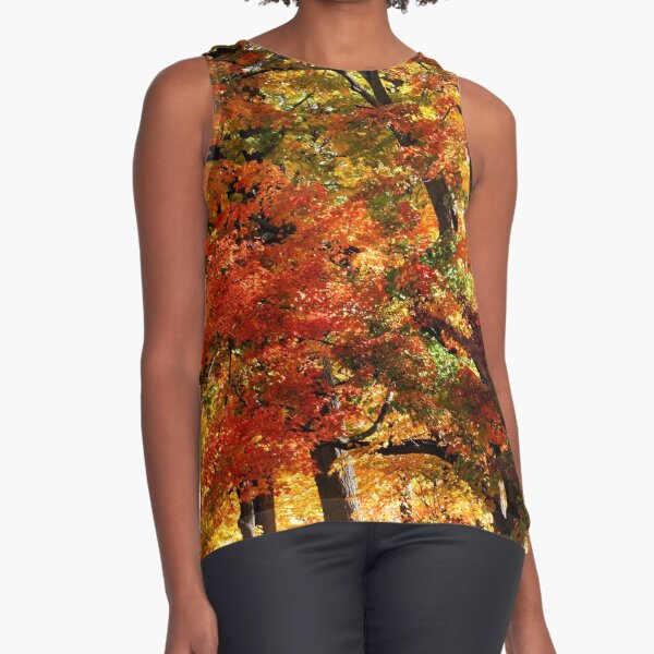 Colors Of Fall Sleeveless Top