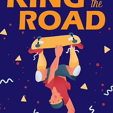 "The cool dude make a trick on the skateboard ""King of the road"". by arsvik"