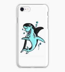 ©DA Cartoon Shark BW iPhone Case/Skin