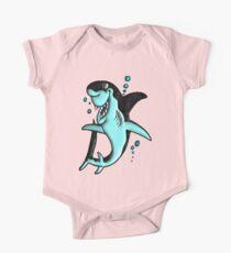 ©DA Cartoon Shark BW Kids Clothes