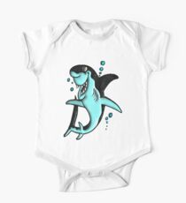 ©DA Cartoon Shark BW Kids Clothes