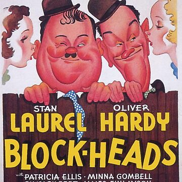 Laurel and Hardy, Block Heads, Movie Poster by TOMSREDBUBBLE