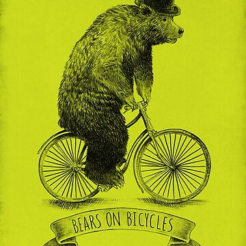 Bears on Bicycles (lime option) by opifan