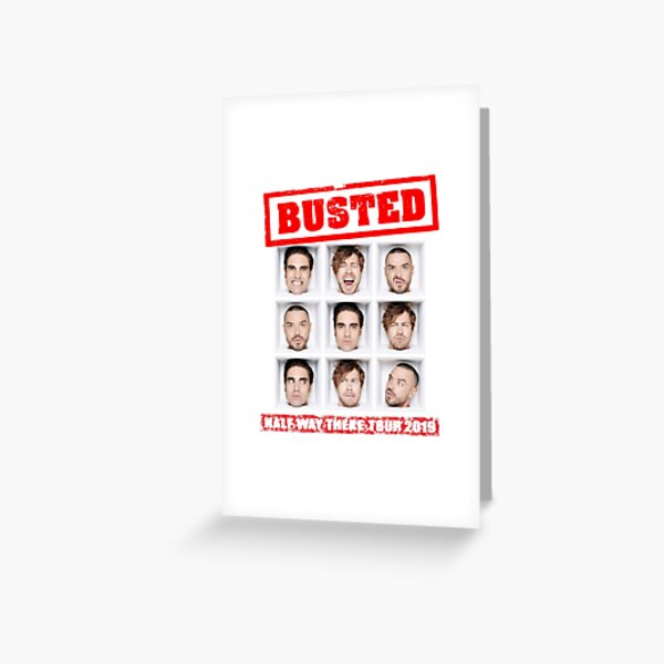 Busted tour 2019 Greeting Card