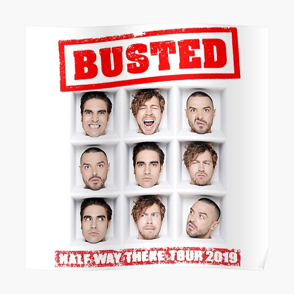 Busted tour 2019 Poster