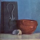 Edgar Degas French Impressionism Oil Painting Still Life Bowl and Book on Table by jnniepce