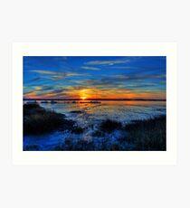 Low Tide at Sunset Art Print