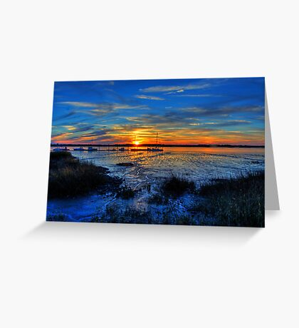 Low Tide at Sunset Greeting Card