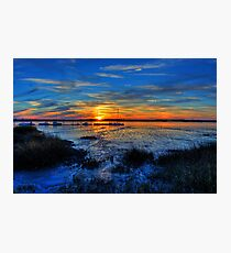 Low Tide at Sunset Photographic Print