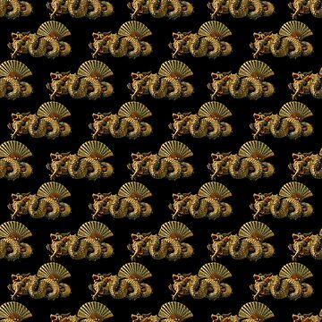 Dragons Motif Print Pattern by DFLCreative