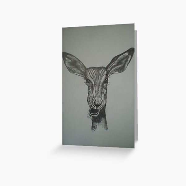 Impala with attitude. My 1st pencil drawing Greeting Card