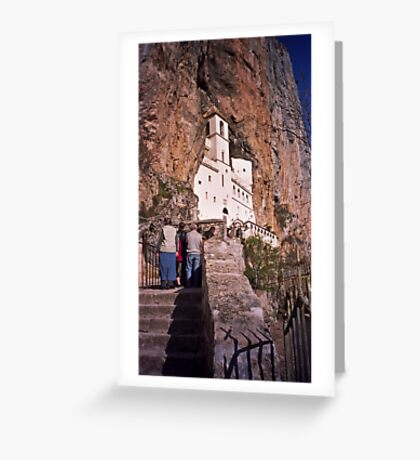 Ostrog monastery Greeting Card