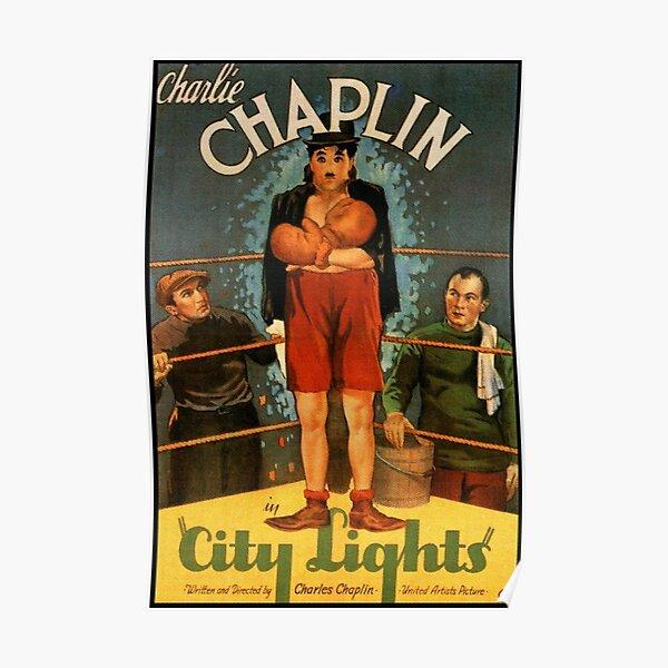 Charlie Chaplin, City Lights, Movie Poster. Poster