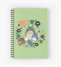 Green Totoro Wreath - My Neighbor Totoro Spiral Notebook