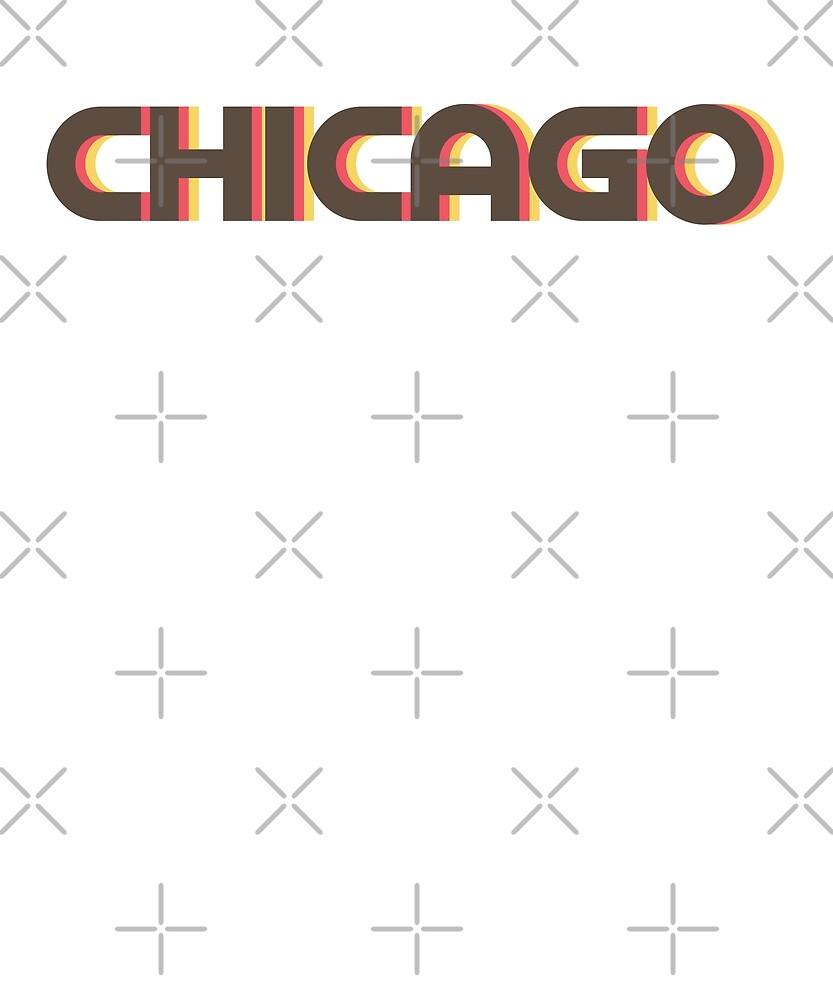 Retro Chicago T-Shirt by designkitsch