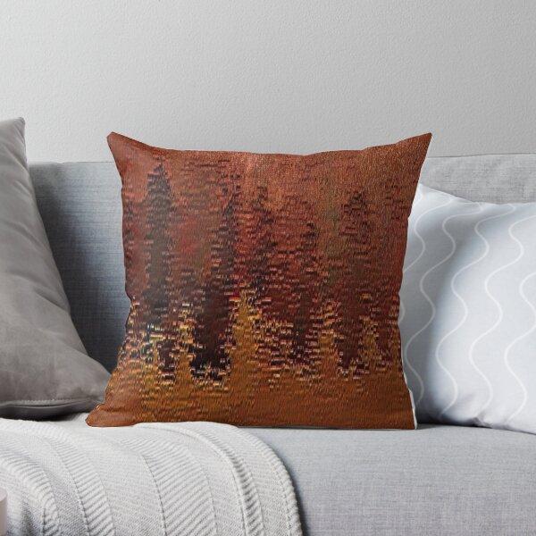 Copper Bronze Throw Pillow