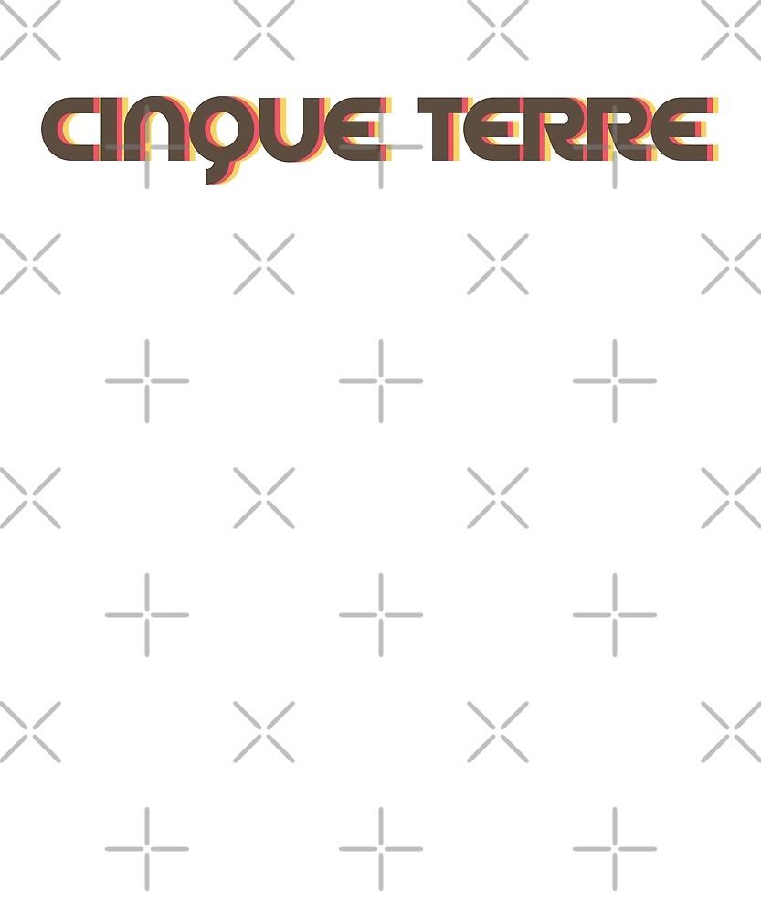 Retro Cinque Terre T-Shirt by designkitsch