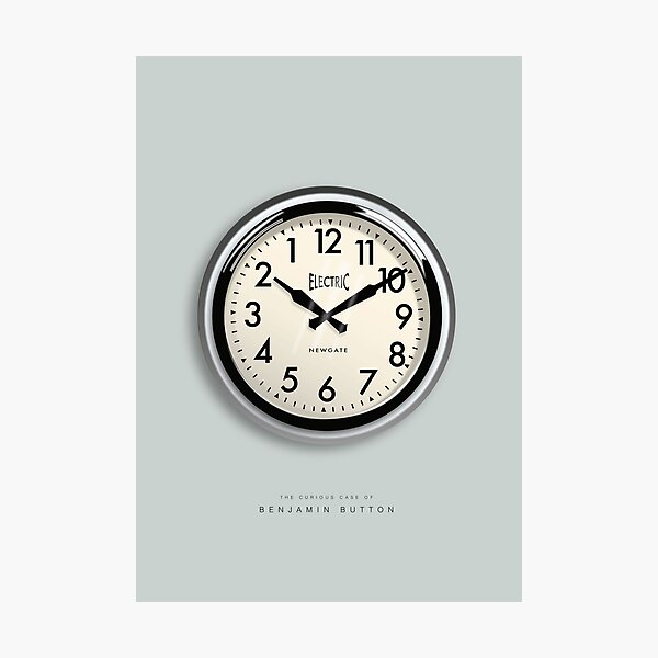 The Curious Case of Benjamin Button - Alternative Movie Poster Photographic Print