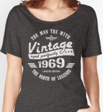 Vintage 1969 - 50th Birthday Gift For Men Women's Relaxed Fit T-Shirt
