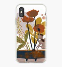 Poppy ikebana botanical print iPhone Case