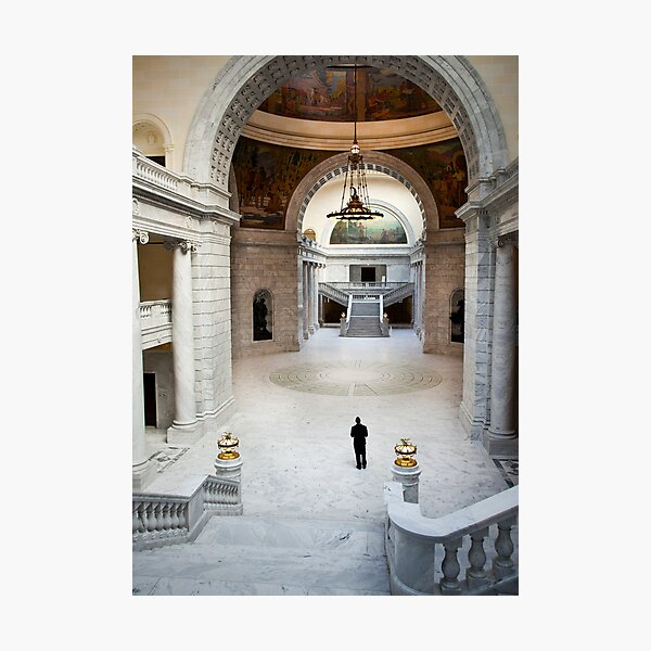 Interior Hall, Capitol Building, Salt Lake City Photographic Print