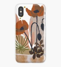 Poppy ikebana botanical print #2 iPhone Case
