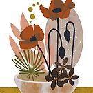 Poppy ikebana botanical print #2 by BirdsongPrints