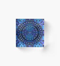Blue Mosaic Mandala Acrylic Block