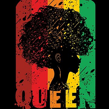 Black Queen Women Shirt I Afro American Strong Natural Hair by phskulmshirt