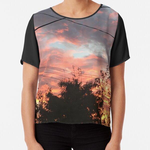 Romantic Sunset Florida Chiffon Top