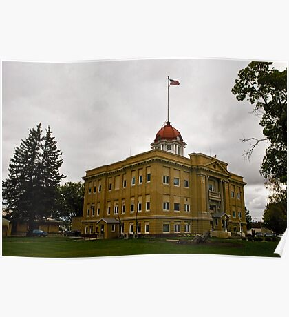 Richland County Montana Court House Poster