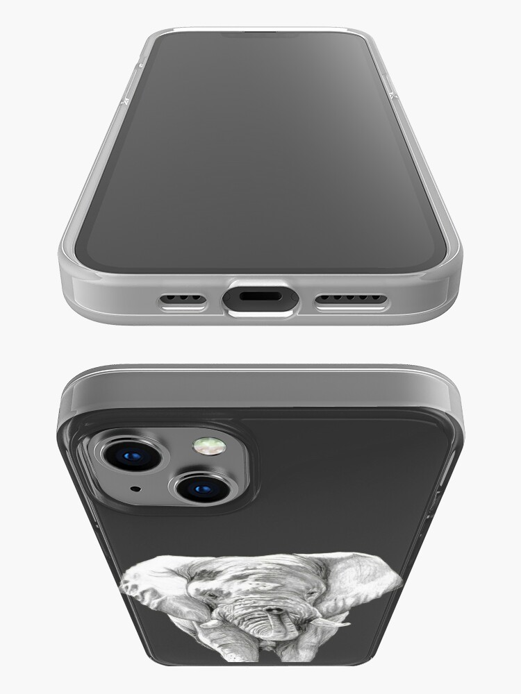 Alternate view of African Elephant in Graphite iPhone Case
