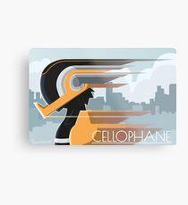 Taping Hero: Cellophane Metal Print