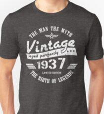 Vintage 1937 - 82nd Birthday Gift For Men Unisex T-Shirt