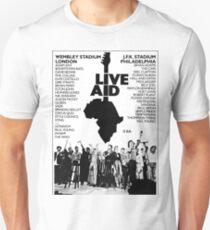 Live Aid Band List Unisex T-Shirt