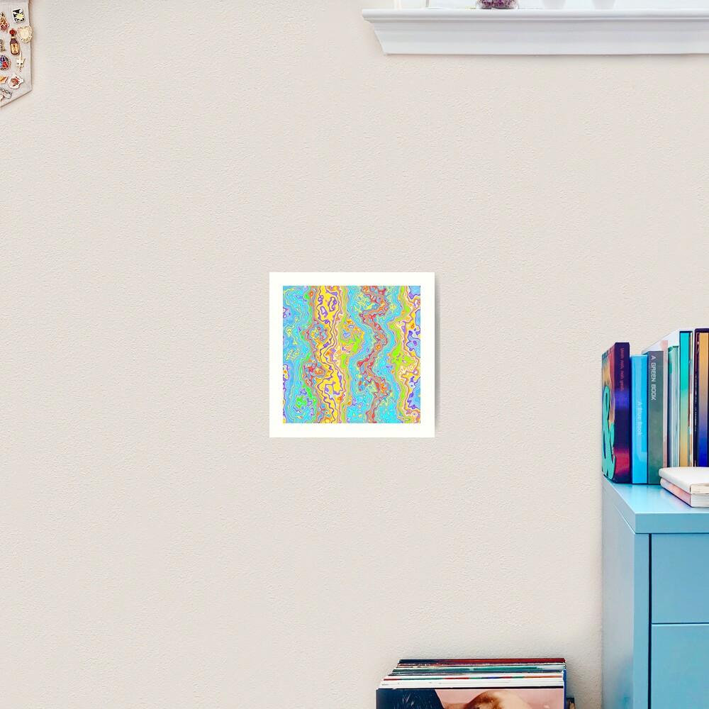 Abstract color streams Art Print