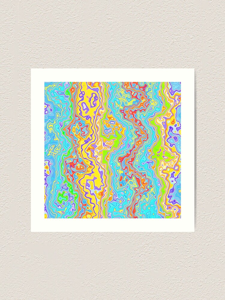 Alternate view of Abstract color streams Art Print