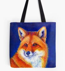 Colorful Red Fox Portrait Tote Bag