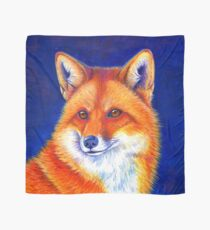 Colorful Red Fox Portrait Scarf
