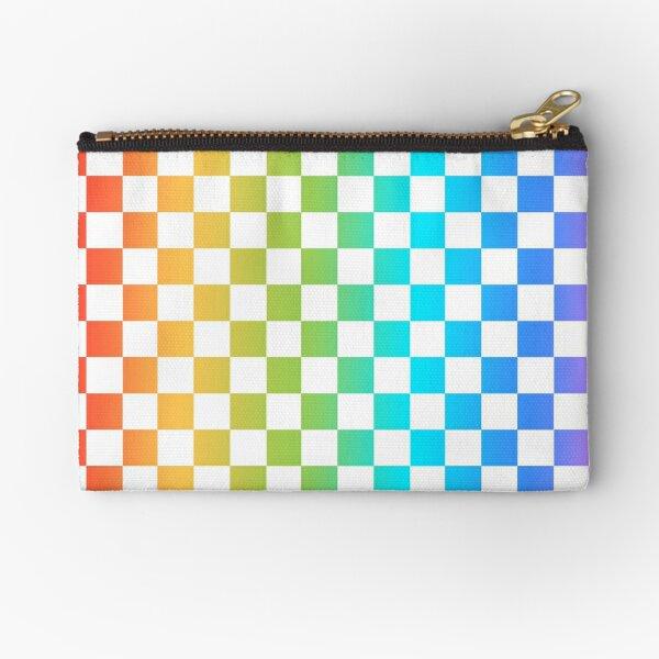 Rainbow Checkerboard  Zipper Pouch