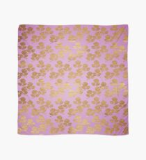 Pink and Faux Gold Foil Roses Scarf